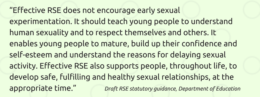Draft RSE statutory guidance