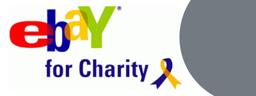 Ebay for charity banner