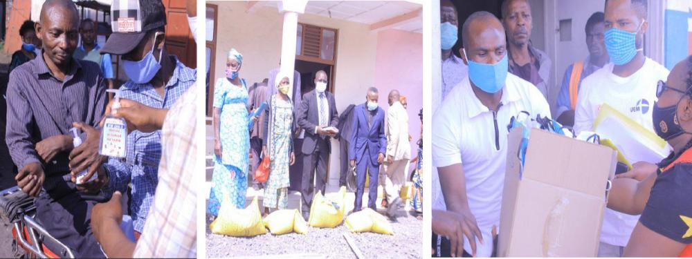 Community hygience & distribution of food & hygiene supplies