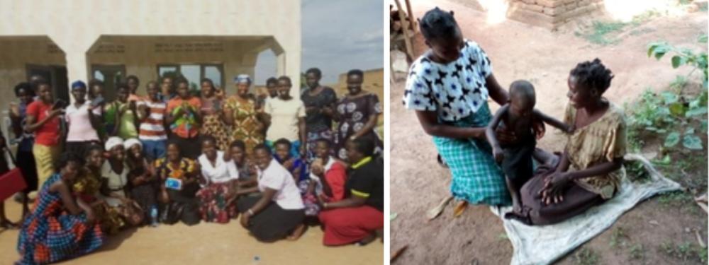 Mother buddies in Uganda