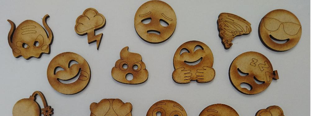 emoji woodcuts