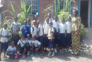 A life skills club in DRC