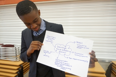 Young person gives feedback on Esteem lessons