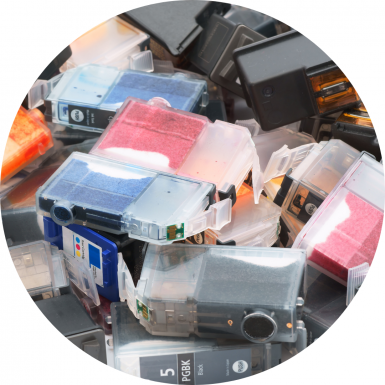 Empty ink cartridges for recycling