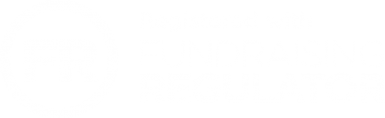 Registered with the Fundraising Regulator badge
