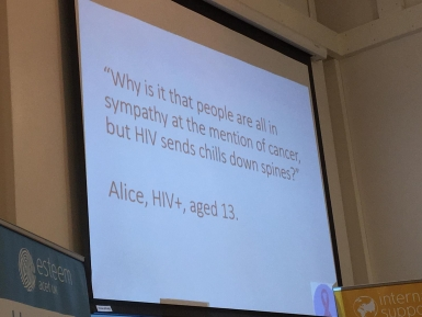 Quote about HIV stigma