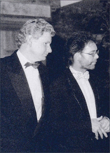 Former acet UK director Maurice with former patron Sir Cliff Richard
