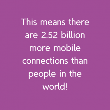 More mobile connections than people in the world