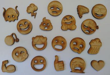 Emoji Woodcut