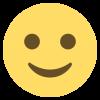 A smiling emoji