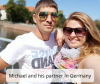 Michael and his partner in Germany