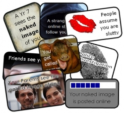 Example cards from free sexting resource