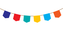 Example image of blank bunting